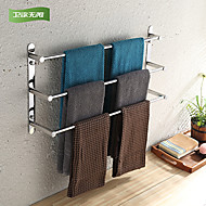 WeiYuWuXian® 304 Stainless Steel 23.6 Inch Polished Finish Three Towel Bars Towel Rack