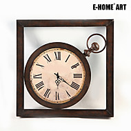 Kvadrat Retro Rød Wall Clock , Andre Metall 60*60*5CM(24inch*24inch*2inch)*1PC