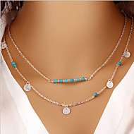 Necklace Pendant Necklaces Jewelry Party / Daily Fashion Alloy Gold / Silver 1pc Gift