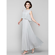 A-line Mother of the Bride Dress Ankle-length Sleeveless Chiffon with