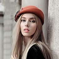 Women British Style Vintage Fashion Wool Beret Hat, Casual Autumn Winter