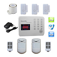 cambrioleur voix lcd GSM systèmes d'alarme Android pour la sécurité de la sécurité de la maison avec 120 sans fil&2 zones de Alarma
