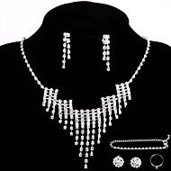 Conjunto de jóias Strass Liga Mulheres