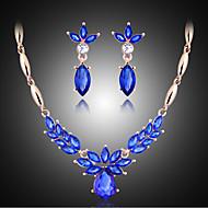 שרשרת / עגיל-נשים-וינטאג' / מסיבה(מצופה זהב ורד / אלוי / אבן חן מלאכותית / אבני חן וקריסטל)