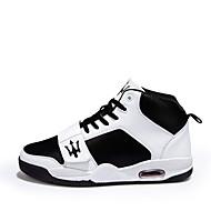 Herenschoenen - Buiten / Casual / Sport - Zwart / Wit - Kunstleer - Modieuze sneakers
