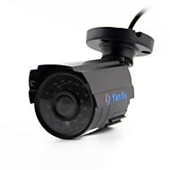 yanse® 1100tvl מצלמה CCTV ד / n אלומיניום מתכת 2.8mm ir 24 הוביל 6624cq קווית עמיד למים אבטחה