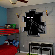 Cartoon / 3D Wall Stickers Vliegtuig Muurstickers , PVC 50*50cm