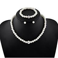 Bijoux Colliers décoratifs / Boucles d'oreille / Bracelet Mariage / Soirée / Quotidien / Décontracté Perle 1set Femme Cadeaux de mariage