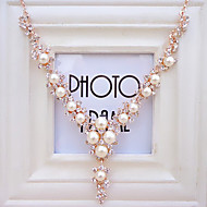 Women's new noble fashion pearl diamond chain clavicle