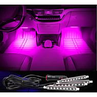 carica dell'automobile lampada atmosfera decorativa interna a LED decorazione pavimentale luce con dimmer mini led 4pcs monocolore
