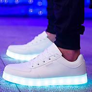 donne hanno portato scarpe usb carica piana di comfort del tallone di moda punta rotonda scarpe da ginnastica nere casuale