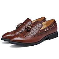 Masculino Mocassins e Slip-Ons Conforto Sapatos formais Courino Primavera Verão Outono Inverno Casual Festas & NoiteConforto Sapatos
