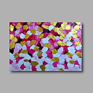 Kézzel festett Absztrakt / Virágos / BotanikusModern Egy elem Vászon Hang festett olajfestmény For lakberendezési