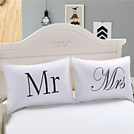 Mr And Mrs Body Pillowcase Bedding Printed Home Textiles Decorative Pillow Case Valentine's Gift 2Pcs/Pair