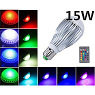 MORSEN® 15W E27 RGB LED Bulb Light   AC85-265V  Remote Control  Lamp