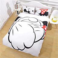 mickey mouse duvet conjunto de tampa apertando as mãos de cama Minnie Mouse definir rainha cheia duplo
