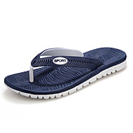 Men's Spring / Summer / Fall / Winter Flip Flops / Slippers Synthetic Outdoor / Dress / Casual Flat Heel Black / Blue / Gray