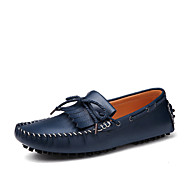 Men's Shoes / Casual Leather Boat Shoes Blue / Brown / White