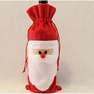 Papai Noel saco do vinho pai natal saco dom decorações do Natal 1pcs