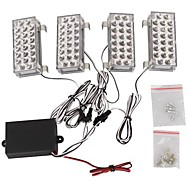 1set 4 Car Truck Universal  88 LED yellow Strobe Emergency Flashing Warning Light for Car