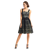 Cocktail Party Dress A-line Straps Knee-length Lace