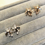 Artificial Pearl Earrings-Random Color