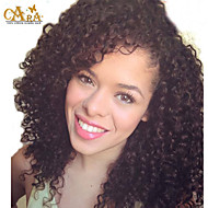 """12""""-26"""" Mongolian Kinky Curly Clip In Hair Extensions Natural Hair 3B 3C African American 120g/Pcs 7Pcs/set"""