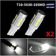2X T10 White 158 194 168 W5W 5730 10 smd led Car Light Bulb Lamp super 12V