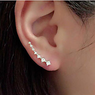Earrings, Ear Cuffs,Jewelry Rhinestone Alloy Wedding Glamorous Women's Fashion Line Shiny Rhinestones Zircon Earrings Jewelry Nice Gift  1pc