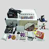 2 Tatoos BaseKey Tattoo Kit 225  Machine With Power Supply Grips Cups Needles(Ink not included)