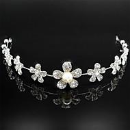 strass perla copricapo diadema nuziale da cerimonia nuziale delle donne
