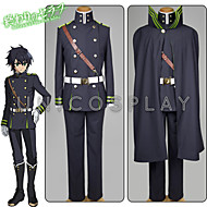 Inspired by Hunter X Hunter Yui Anime Cosplay Costumes Cosplay Suits Solid Black Top / Shirt / Gloves / Belt / Clock/Watch