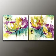 Peint à la main A fleurs/BotaniqueModern Deux Panneaux Toile Peinture à l'huile Hang-peint For Décoration d'intérieur