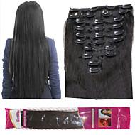 ibeshion 180grams acessíveis 10pcs 26 grampo grampos linear em extensões de cabelo humano # 1b # 2 # 4 # 6 cabelo brasileiro