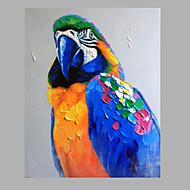 ενιαία σύγχρονη αφηρημένη καθαρό χέρι επιστήσω έτοιμος να κρεμάσει τον διακοσμητική ζωγραφική πετρελαίου παπαγάλος