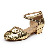 Sapatos de Dança ( Prateado / Dourado ) - Feminino / Infantil - Não Personalizável - Dança do Ventre / Latina / Salsa