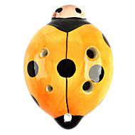 mariehøne stil 6-hullers c-nøgle Ocarina musikinstrument - orange