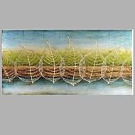Handgeschilderde Abstracte landschappen Horizontaal Panoramisch,Modern Eén paneel Canvas Hang-geschilderd olieverfschilderij For