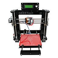 geeetech 8mm akryl RepRap Prusa Mendel i3 3d skriver DIY kit 1.75mm filament / 0.3mm dyse