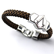 Assassin's Creed Connor Silver Alloy Logo Badge Punk Style Leather Bracelet Bracelet More Accessories
