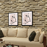 New Rainbow™ Geometric Wallpaper Contemporary Wall Covering , PVC/Vinyl Simple Simulation Brick Pattern