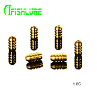 Afishlure Threaded Glaze Copper Pendant 1.8g Fishing Accessaries Bullet Type Pure Copper Fishing Weights 12pcs/lot