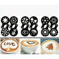 12kpl muovinen fancy kahvin painaminen malli minimalistinen muotoilu pölyämistä pad