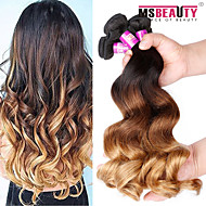 """4 Pcs /Lot 16""""-24""""7A 3T Malaysian Virgin Hair Loose Wave Human Hair Wefts 100% Unprocessed Malaysian Remy Hair Weaves"""