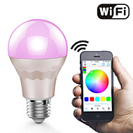 7W Led Wifi Bulb Smart Phone App Control RGB And Warmwhite changing color with sound