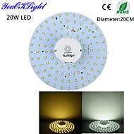 20W תאורת תקרה 100 SMD 2835 1800 lm לבן חם / לבן קר חיישן / דקורטיבי AC 220-240 / AC 110-130 V חלק 1