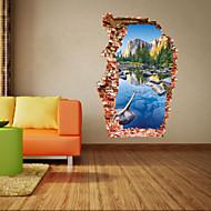 Kasvitieteellinen / Piirretty / Romantiikka / Muoti / Maisema / Muodot / Fantasia / 3D Wall Tarrat 3D-seinätarrat , PVC90cm x 60cm( 35in