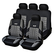9 PCS Set Car Seat Covers Para Material Poliéster Tecnologia Heat-Embossed Universal Fit