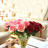 Gren Polyester Roser Bordblomst Kunstige blomster