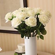 1 ענף פוליאסטר ורדים פרחים לשולחן פרחים מלאכותיים
